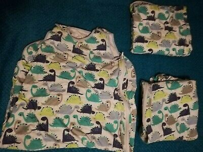 Mothercare 4 X Dinosaur Sleeping Bags 1 Tog 18-36 Months