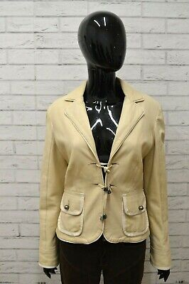 Giacca Pelle Donna EXTYN Taglia Size M Cappotto Giubbotto Jacket Woman Leather