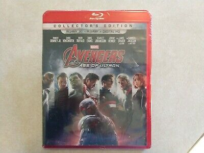 AVENGERS Age of Ultron COLLECTORS Edition 3D Blu-ray+Blu-ray+Digital HD