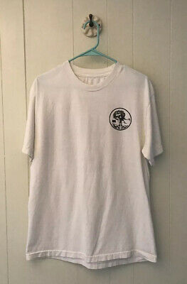WOBF Grateful Dead Black Flag T Shirt Skull And Roses Deans Nuts Sz Large *READ