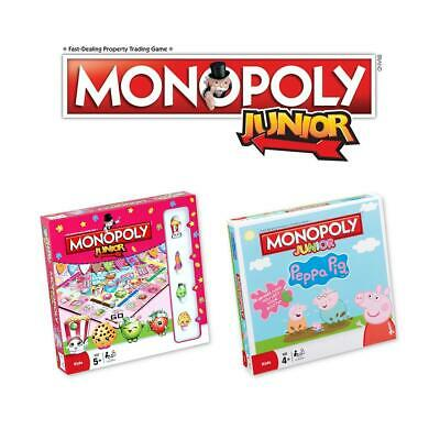 Monopoly Junior Board Game Editions - Peppa Pig - Shopkins - Brand New & Sealed