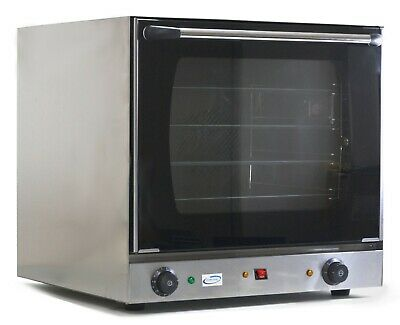 Chef-Hub Dual Fan 2.7Kw Electric Convection Oven With 4 Racks & Uk Plug