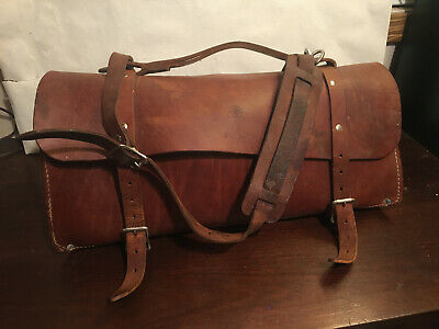 Klein Tools Electrician's Leather Bag 5108 20, pre-owned
