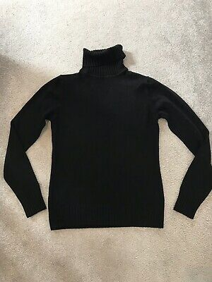 Ladies Womens  Polo Neck Roll Neck Turtle Neck Plain Jumper Top Long Sleeve 8