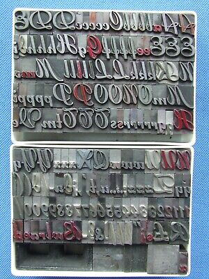 Letterpress Printing Adana 36pt MERCURY SORTS ONLY METAL TYPE Incomplete set