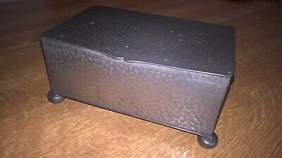 Vintage Civic Pewter Trinket/Cigarette Box