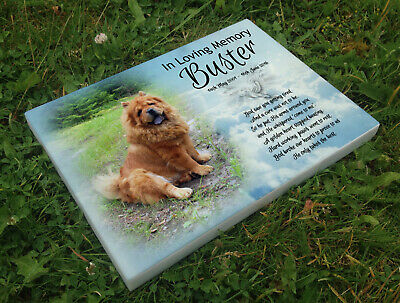 Personalised grave headstone memorial plaque pet dog Chow Chow or any dog breed