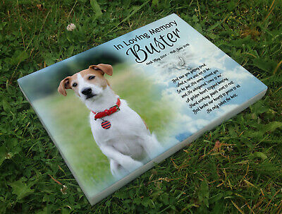 Personalised grave headstone memorial plaque dog Jack Russell or any breed
