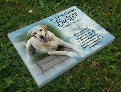 Personalised grave headstone memorial plaque dog Labrador or any breed