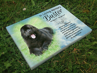 Personalised grave headstone memorial plaque dog Newfoundland or any breed