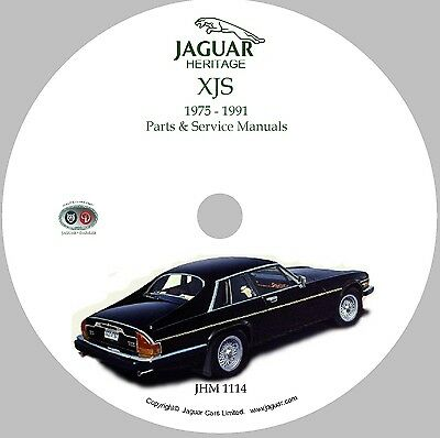 Jaguar Xjs Workshop Parts And Service Manual On Cd Rom 75 91 Used