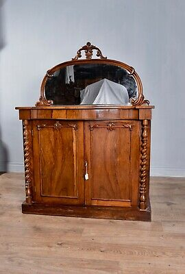 Antique Victorian rosewood chiffonier credenza side cabinet