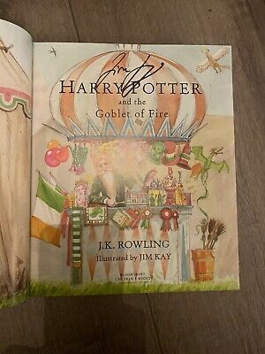 Harry Potter abd The Goblet Of Fire Illustrated Edition Signed Jim Cullen New