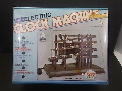 Vtg 1980 Arrow Handicraft - Electric Clock Machine - Spencer Gifts NEW SEALED C2