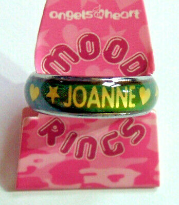PERSONALISED MOOD RING - JOANNE - Girl's Colour Changing Ring