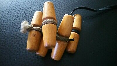 5 x Vintage Wooden toggles approx 1.75 inches with central groove for affixing
