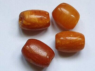 ANTIQUE NATURAL BALTIC AMBER BEADS REAL GENUINE OLD AMBER 4 grams ! 老琥珀