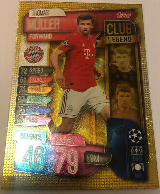 Topps match attax Champions league 2019/20 MULLER Club legend Card 299