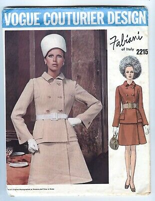 VOGUE 2215 - Fabiani - UNCUT Pattern - SUIT JACKET & Wrap SKIRT - Size 14