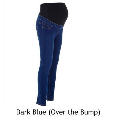 Maternity New Look Jeggings Jeans DARK BLUE Over The Bump Sizes 8 - 18 BM61