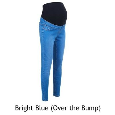 Maternity New Look Jeggings Jeans BRIGHT BLUE Over The Bump Sizes 8 - 18 BM60