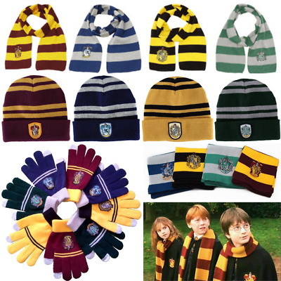 Harry Potter Tie Scarf Hat Gloves Glasses Halloween Fancy Dress Cosplay Costume