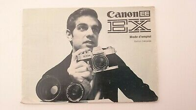 Canon Ee Ex Instruction Manual French Version