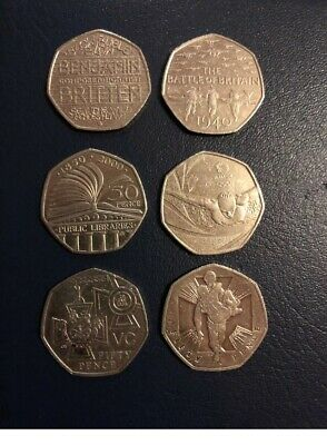 Joblot 50p Fifty Pence Coin Bundle Commorative Collection Rare VC,