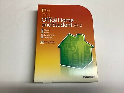 Used Microsoft Office Home and Student 2010 Family Pack DVD w/Product Key