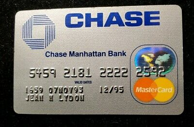 Chase Manhattan Bank MasterCard Card Exp 1995 ♡Free Shipping♡cc233♡