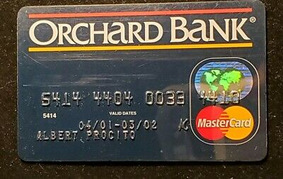 Orchard Bank MasterCard Card Exp 2002 ♡Free Shipping♡cc235♡