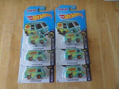 Lot Of 6-Hot Wheels All Scooby Doo Mystery Machine All In Great Shape
