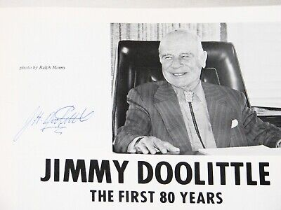 JIMMY DOOLITTLE USA General Aviation Pioneer Autographed Program Airplane Flying
