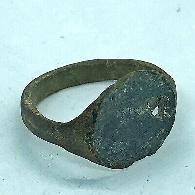 RARE Authentic Ancient Roman Or Byzantine Ring European Artifact Antiquity Old