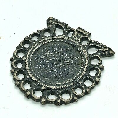 Ancient Or Medieval Middle Eastern Metal Pendant Charm Islamic Jewelry Old