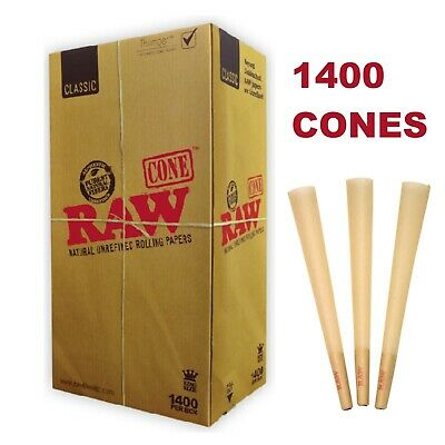RAW Classic King Size Pre-Rolled Cones (1400 Pack)