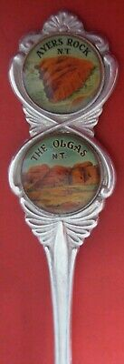 1 x  COLLECTORS DOUBLE PICTURE SPOON - AYERS ROCK/THE OLGAS, N.T.