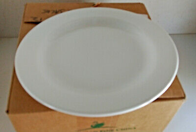 Box of 12 Australian Fine China Plates 230mm Flinders White  (9950)