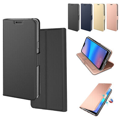 For Xiaomi Redmi Note 8 Pro Slim Magnetic PU Leather Card Wallet Case Flip Cover