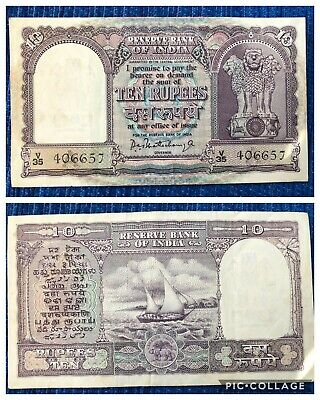 10 rupee note with boat signed by pc bhattacharya.It is rare note .