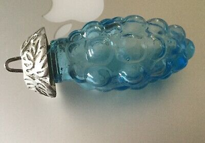 Orphan Hanging Blue Glass Grape Salt/Pepper Shaker