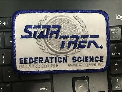 Error Federation Science Star Trek Patch see pics!