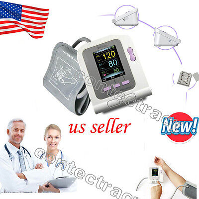 Digital LCD arm Blood Pressure Monitor Heart Beat Rate Meter Measure,free sw,USA