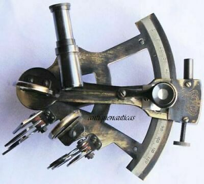 Collectible Antique Finish Marine Nautical Brass Sextant Vintage Style handmade