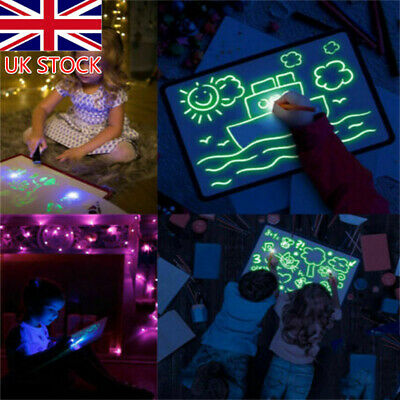 Draw With Light Drawing Board Fun DevelopeToy Kids Educational Magic Paint UKTOP