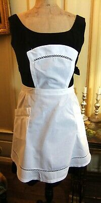 Apron Service Tulle Netting in Bib in Lawn - Linen Antique French Maid