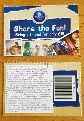 2 x Merlin Share The Fun entry vouchers
