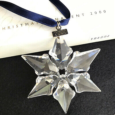 Swarovski 2000 Crystal Christmas Ornament with box, outer box, and certificate