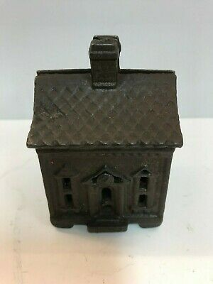 "Cast Iron ""One Story House"" Still Bank, by Grey Iron Casting Co. 1903"