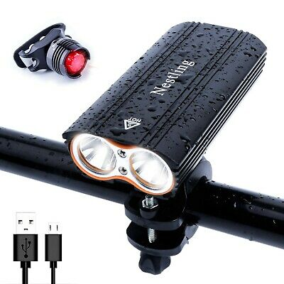 Nestling USB Rechargeable LED Bike Light Set